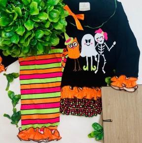 Honeydew - Halloween stripe set for girls (kids)
