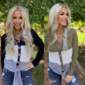 Esley - Kendalls big stripe light knit cardigan sweater