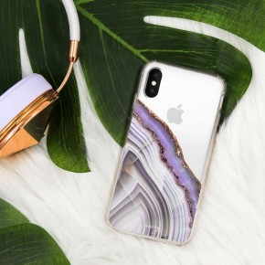 LIGHT PURPLE AGATE PHONE CASE
