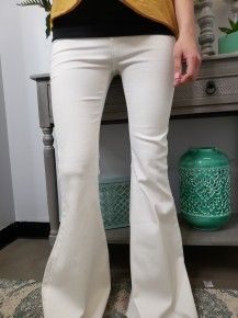 High rise bell bottom pants with back pockets and no front pockets