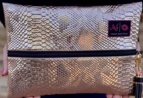 Makeup Junkie- Rose Gold Bag