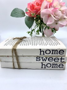 "Home decor book ""home sweet home"""