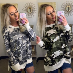 Honeyme- Long sleeve army camo top