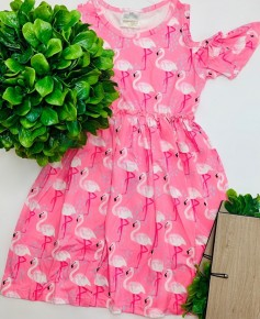 Honeydew - Flamingo off shoulder dress