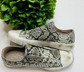 Naughty Monkey- Wildlife distressed sneakers