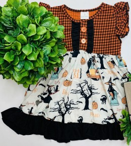 Honeydew - Halloween flutter sleeve dress (kids)