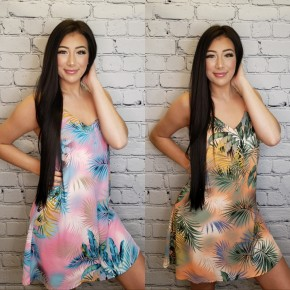 Caramela- Tropical print dress