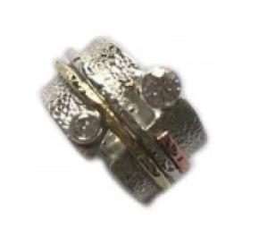Sterling Stones Spinner Ring SR3212