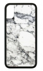 Wildflower White marble iphone case