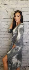 Honeyme - Plus size  3/4 sleeve v neck dress
