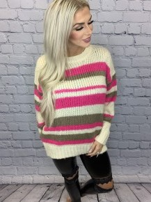 Vine & Love- Striped long sleeve sweater