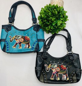 Elephant Embroidered purse (Concealed Carry)