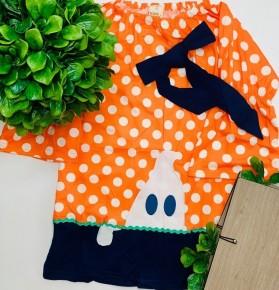 Halloween orange girls dress