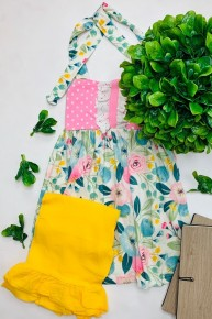 Honeydew - Floral tunic with capri pants