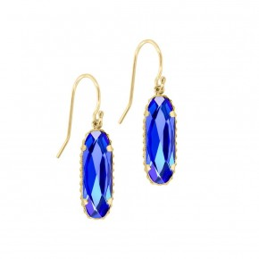 Sterling Silver Willow Earrings In Majestic Blue in Gold or Silver