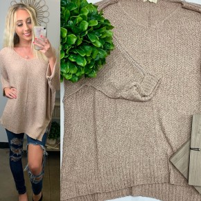 Easel - Lightweight sweater knit top