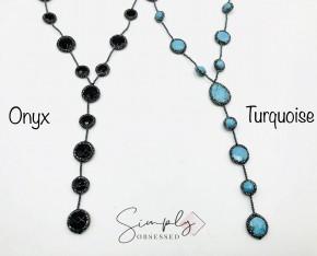 Charlene K-CZ Pave Halo 13-15 Gemstones Y-Necklace