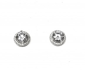 CZ Circle Studded Earrings