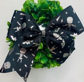 Funteze- Halloween theme skeleton hair bow (7.88 inches long)