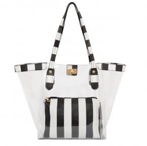 Mellow World - Transparent striped detail bag