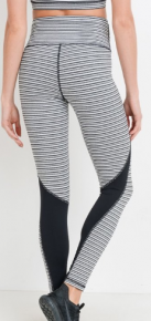 Black/white athletic leggings