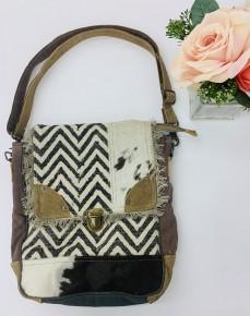 Myra Bag- Rug & Patches Design Shoulder Bag