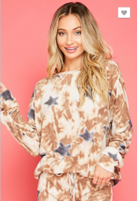 Fantastic Fawn - Tie dye print with star fabric top