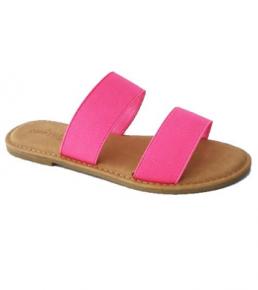 Neon wide double strap sandals