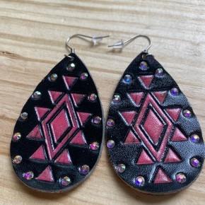 Black & Pink Aztec Earrings