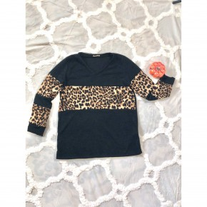 Leopard and Black Long Sleeve *Final Sale*