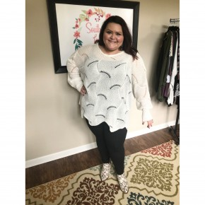 Cream Knitted Sweater *Final Sale*