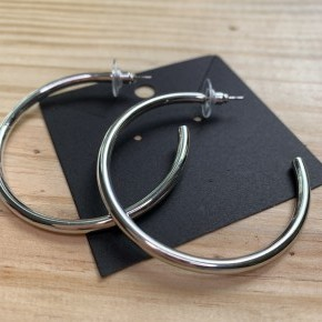 Perfect Silver Hoops