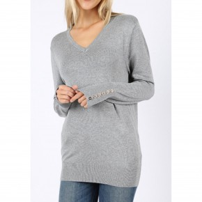 Fitted Grey Sweater *Final Sale*
