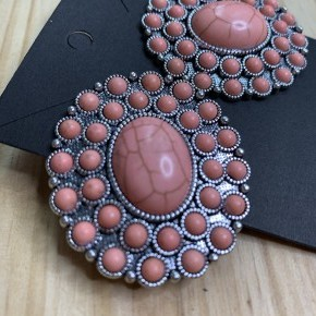Coral Stone Studs