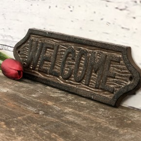 "Rusty Cast Iron ""Welcome"" Sign"