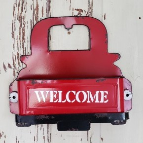 Red Truck Welcome Bin