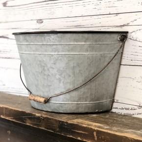 Hanging Half Bucket (Metal with Handle)