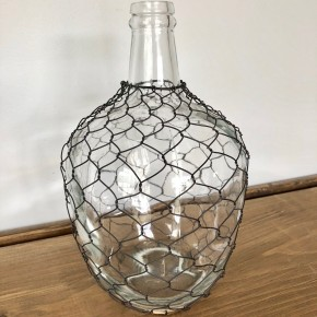 10.25 Glass Jug with Decorative Wire