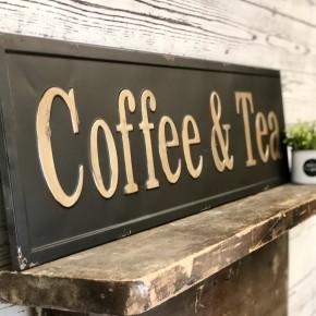 Coffee & Tea Embossed Sign