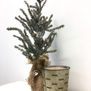 Hearth Olive Bucket Candle