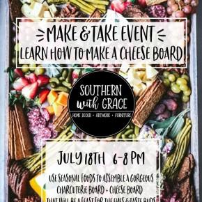Make & Take Event: MAKE A CHARCUTERIE+CHEESE BOARD