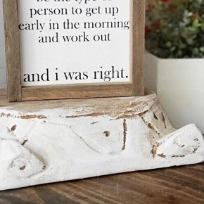 """Workout"" Framed Wood Sign"