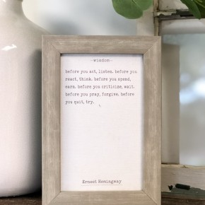 Wisdom Hemingway Frame