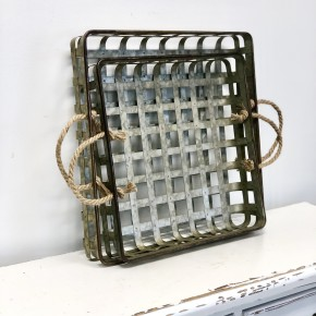 Metal Tobacco Basket with Strap