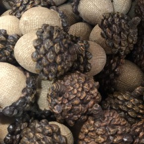 Light brown mini Acorn, set of 3