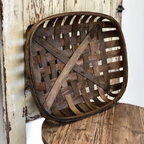 Brown Rectangle Tobacco Basket