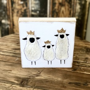 White Sheep Painting