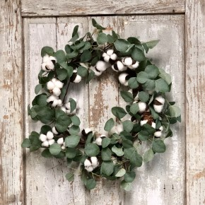 Cotton Eucalyptus Wreath