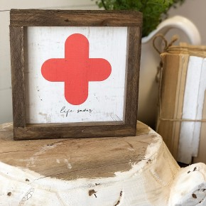 """Life Saver"" Framed Wood Sign"