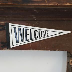 Enamel Welcome Pennant